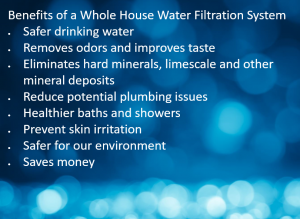 whole home water filtration benefits